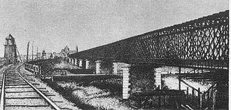 Milan–Bologna railway - Image: Ponte Po