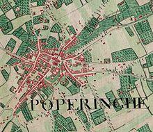 Poperinge, Belgium; Ferraris Map.jpg
