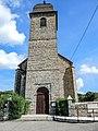 Porche et clocher de l'église Saint-Germain de Lanthenans.jpg