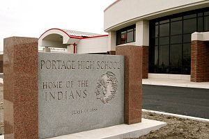 Portage Township, Porter County, Indiana - Portage High School following a 2007 expansion project