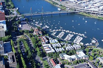 Waterfront Blues Festival - Aerial view of the 2016 festival