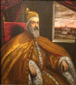 Marino Grimani (doge) - Portrait of Doge Marino Grimani by Domenico Tintoretto