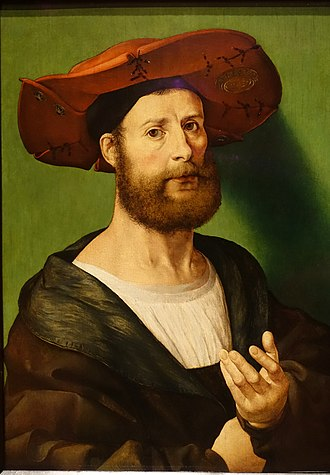 Jan Gossaert - Jan Gossaert-self portrait (1515–1520). Collection of the Currier Museum of Art, Manchester, New Hampshire