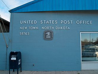 New Town, North Dakota - Post office in New Town