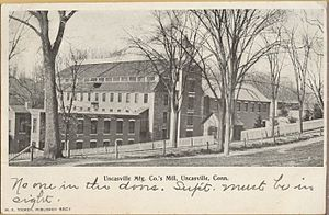 Uncasville, Connecticut - Image: Postcard Uncasville CT Uncasville Mfg Co Mill 1906