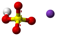 Ball-and-stick model of the component ions