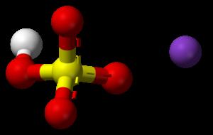 Potassium bisulfate - Image: Potassium bisulfate 3D balls ionic