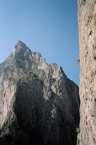 Potrero Chico - A view of El Toro and the Mota Wall