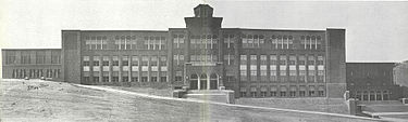 Pottsville High School after completion of construction in 1933