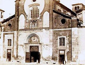 San Marco, Milan - Facade prior to 1871 refurbishment.