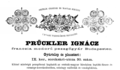 Prückler Ignácz pezsgőgyár 1886 reklámja.PNG