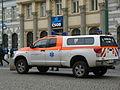 Praha, náměstí Republiky, automobil ZZS.jpg
