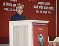 "Pranab Mukherjee addressing at the presentation of the book entitled ""Shri Ramayana Mahnveshanam"" (in two volumes), authored by the Union Minister for Petroleum & Natural Gas and Environment and Forests.jpg"