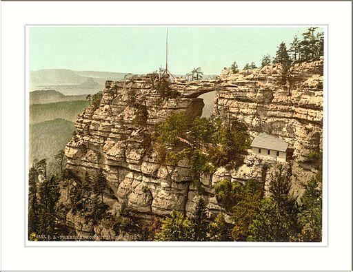 Prebischtor and the Kirkelstein Bohemian Switzerland Bohemia Austro-Hungary