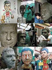 Building a papier maché mask in the Carnevale di Massafra