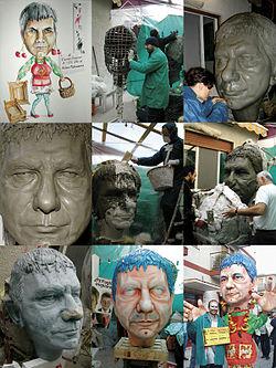Costruzione di una maschera in cartapesta, dal bozzetto alla pitturazione al Carnevale di Massafra