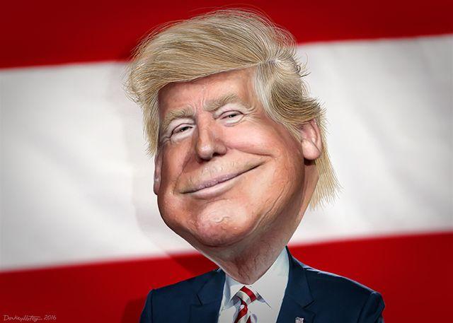 President-elect Donald Trump -- Caricature