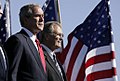 President George W. Bush with Secretary of Defense Donald Rumsfeld.jpg
