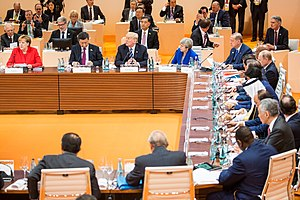 2017 G20 Hamburg summit - The G20 Summit working lunch, 7 July 2017