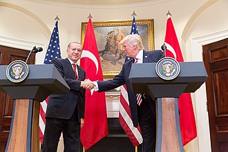 Roosevelt Room - President Trump and Turkish President Erdoğan give a joint statement in the Roosevelt Room