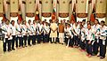 Prime Minister Narendra Modi meets Indian Contingent for Rio Olympics.jpg