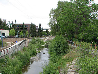Santa Rosa Creek - Prince Memorial Greenway is a bicycle and pedestrian path along the Santa Rosa Creek through downtown Santa Rosa and a key element of the creek's restoration.