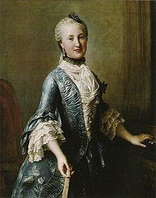 Prinzessin Elisabeth von Sachsen (1736–1818), ca. 1755 (Quelle: Wikimedia)