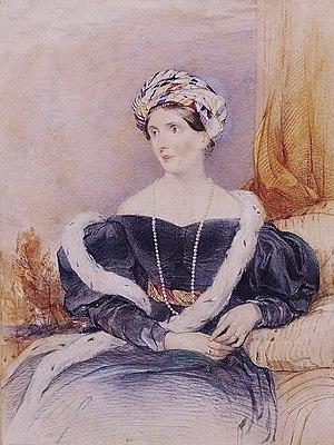 Priscilla Fane, Countess of Westmorland - Priscilla (Wellesley-Pole), Countess of Westmorland (John Rogers Herbert)