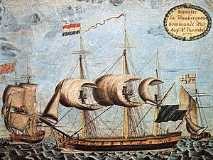 Pierre Jean Van Stabel - Van Stabel's privateer Dunkerquoise in 1779.