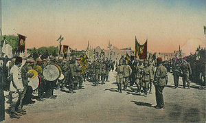 Arab Kingdom of Syria - Proclamation of Faisal I as King of Syria in 1920.