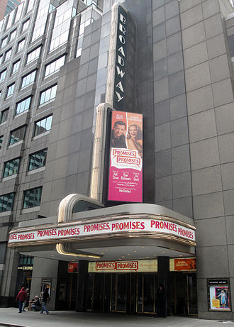 Broadway Theatre (53rd Street) - The Broadway Theatre in 2010, when it played host to Promises, Promises