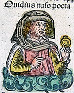 Publius Ovidius Naso in the Nuremberg chronicle XCIIIv.jpg