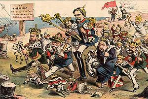 Puck (magazine) - Image: Puck Carl Edler von Stur Go West! 1881 2