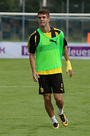 Christian Pulisic - Pulisic training with Borussia Dortmund in 2017