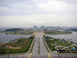 Panorama of Putrajaya, the administration centre of Malaysia.