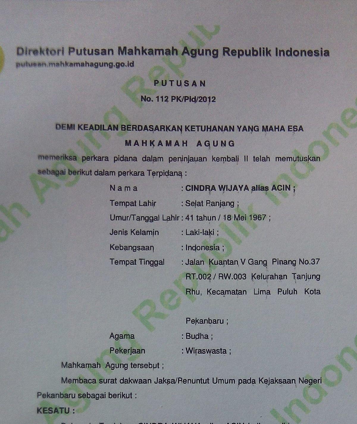 Peninjauan kembali - Wikipedia bahasa Indonesia