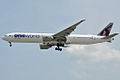 Qatar Airways B777-3DZER A7-BAB (12876878644).jpg