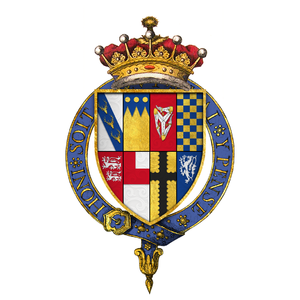 Henry Stanley, 4th Earl of Derby - Quartered arms of Sir Henry Stanley, 4th Earl of Derby, KG