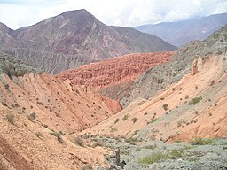 The Quebrada de Humahuaca valleys in Jujuy Province, Argentina