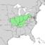 Quercus imbricaria range map 1.png