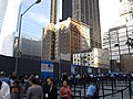 Queue for Line at National September 11 Memorial, Next to 5 WTC Under Construction (7237141664).jpg