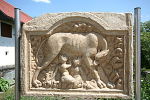 Teurnia - Roman relief stone at Teurnia