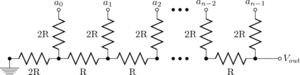 Resistor ladder - Figure 1: n-bit R–2R resistor ladder