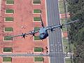 RAAF Lockheed C-130J-30 Hercules flies up Anzac Parade, Canberra.jpg