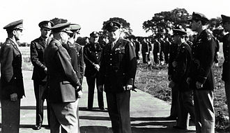 "RAF Bury St Edmunds - General Henry Harley ""Hap"" Arnold, Chief of the United States Army Air Forces visits RAF Bury St Edmunds, September 1943."
