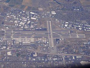 Reno–Tahoe International Airport - Aerial view of Reno Airport