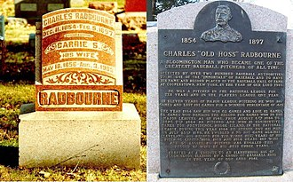 Charles Radbourn - The Radbourn headstone and plaque