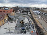 Radebeul Bahnhof Radebeul Ost 2013 Bauarbeiten 01.JPG