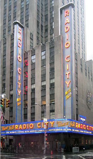 Radio City Music Hall, site of 12 VMAs, including the first Radio City Music Hall 2003.jpg