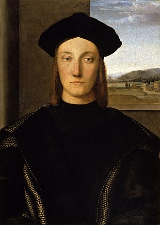 Raphael - Portrait of Guidobaldo da Montefeltro, Duke of Urbino from 1482 to 1508, c.1507. (Uffizi Gallery)